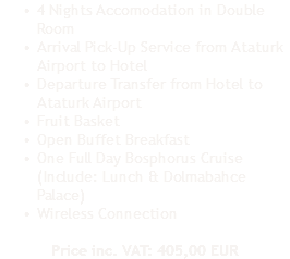 4 Nights Accomodation in Double Room